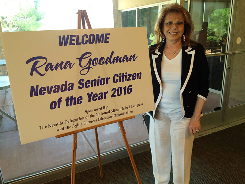 Rana Goodman Nevada Senior Citizen of the Year 2016