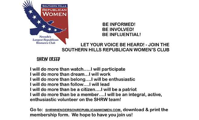 Join Southern Hills Republican Women's Club Flyer