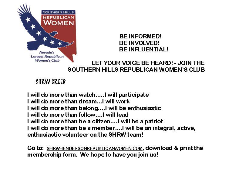 Ad about joining Southern Hills Republican Women's Club