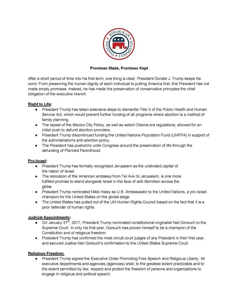 POTUS Accomplishments Flyer Page 1