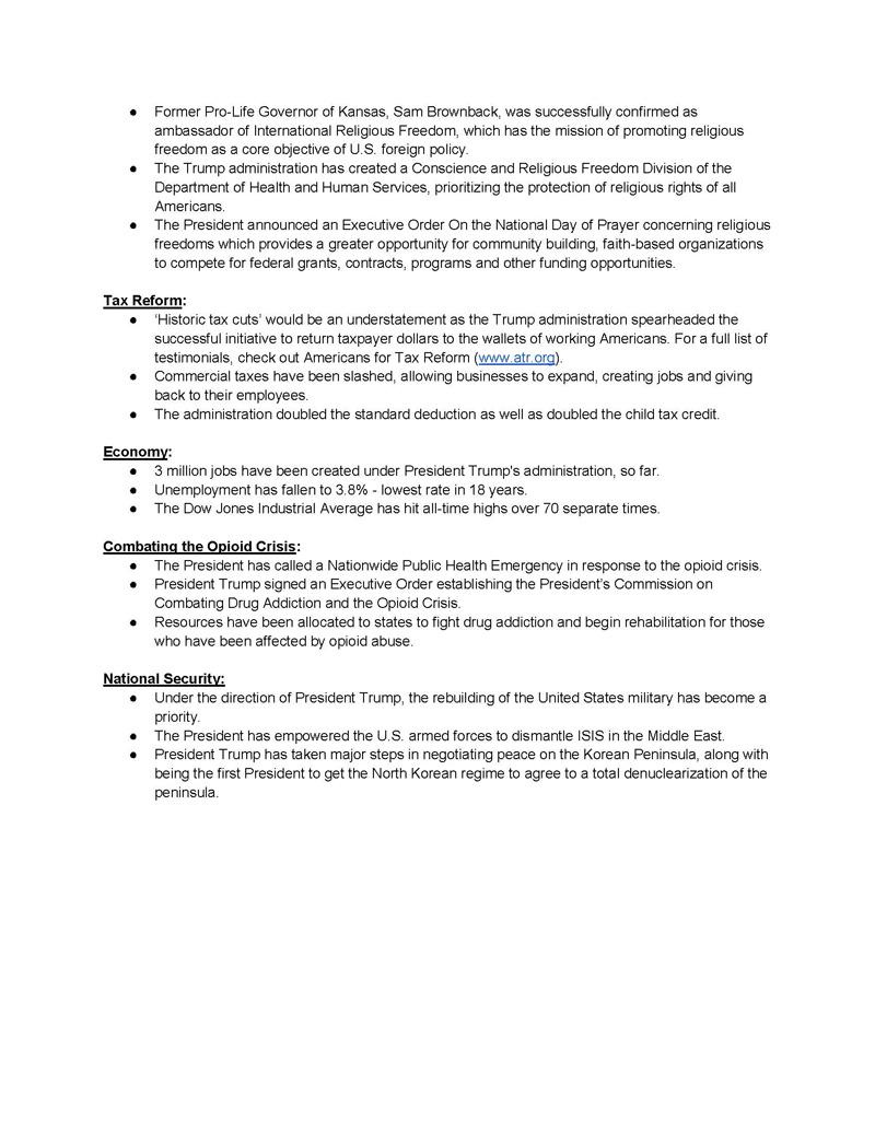 POTUS Accomplishments Flyer Page 2