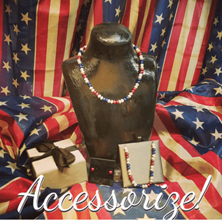 American-flags-near-a-wrapped-present-and-jewel