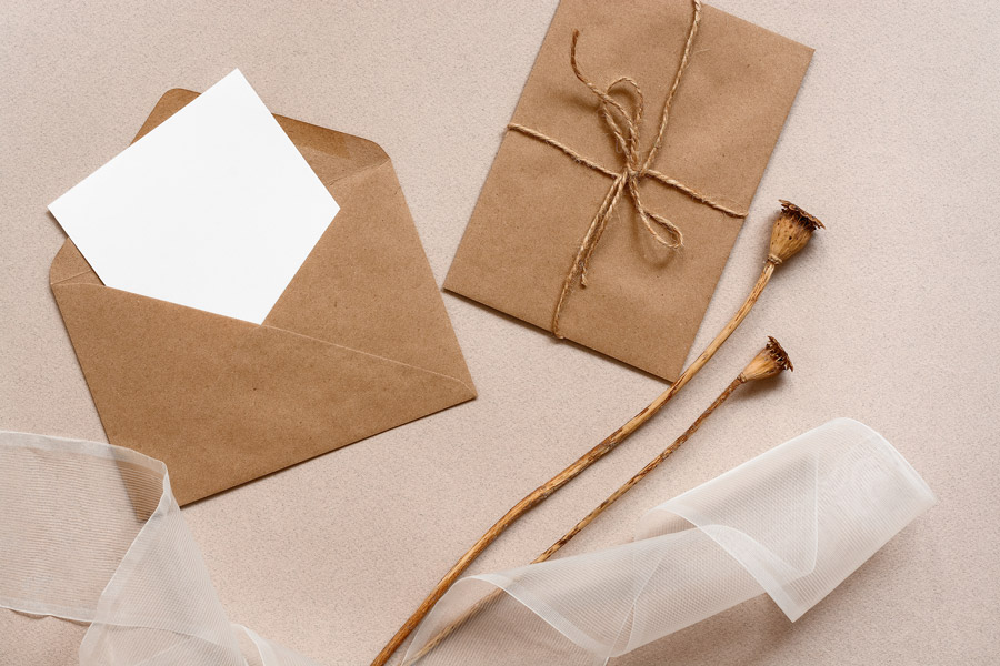 A letter in a brown envelope