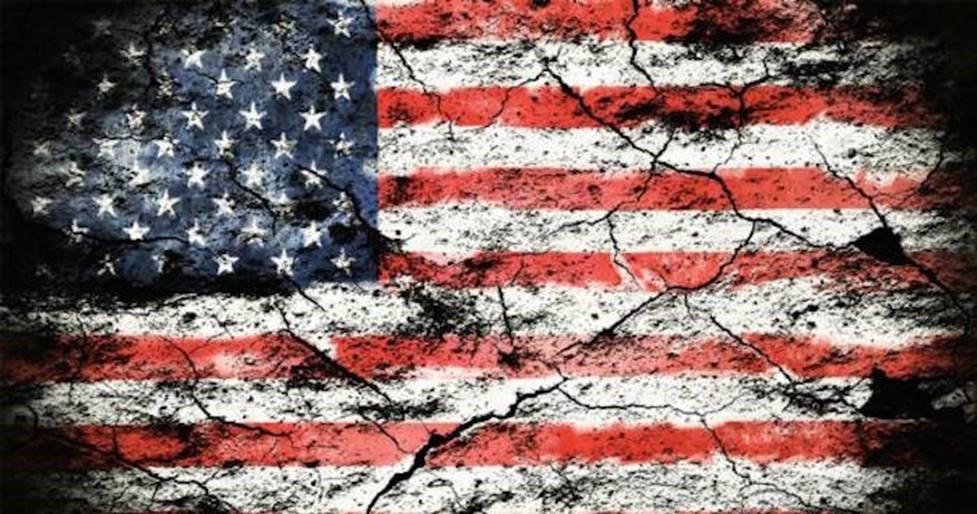 Crumbled American Flag
